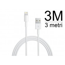 Cavo 3 metri per iPhone 5 iPad Mini iPod Touch 5g Nano 7 cavetto 3m per sincronizzazione dati e ricarica usb lightning
