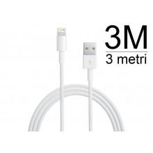 Cavo 3 metri per iPhone 5 iPad Mini iPod Touch 5g Nano 7 cavetto 3m per sincronizzazione dati e ricarica usb lightning