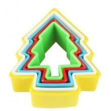 3 pacchetti da 5 pezzi per un totale di 15 formine per biscotti formine albero