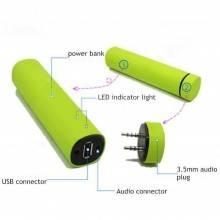 Power bank A8 universale batteria esterna cassa integrata bluetooth 5200mAh 4in1