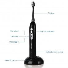 Broadcare EUAI2030 spazzolino elettrico 31000 VPM ricaricabile tecnologia sonica