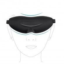 Broadcare mascherina per dormire eyemask3D sagomata gomma piuma memoria di forma
