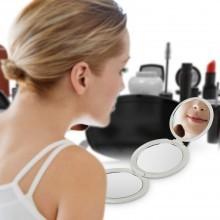 BROADCARE Piccolo Specchio Portabile Per Trucco 1/2/5 X di Ingrandimento 3 lati