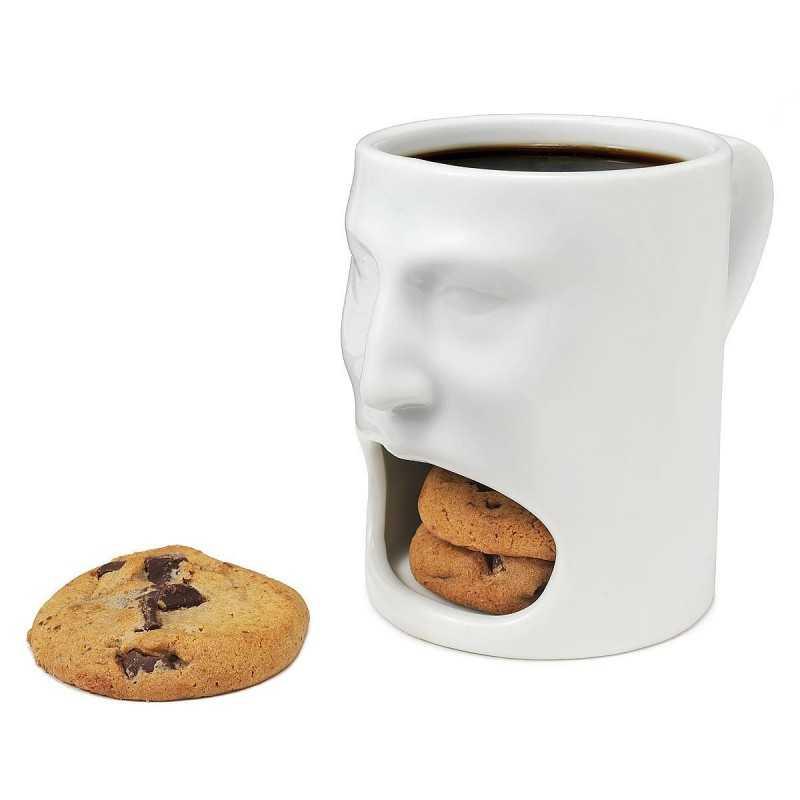 Tazze in porcellana simpatiche originali dito medio faccia cane colazione caffè