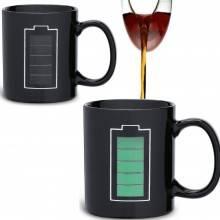 Tazza colazione cambia colore versando bevanda calda termosensibile ceramica