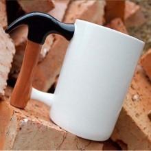 Tazza in porcellana impugnatura martello idea regalo hammug caffè bevande