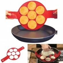 Stampo padella in silicone per pancakes frittelle omelette antiaderente stampi
