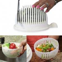 Ciotola taglia insalata frutta verdura slicer veloce pulito semplice scolapasta
