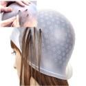 Cuffia per capelli per meches colorazione punte forata completa di uncinetto
