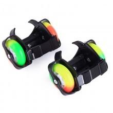 Pattini rotelle luminosi LED regolabili estensibili rollerblade roller 2 ruote