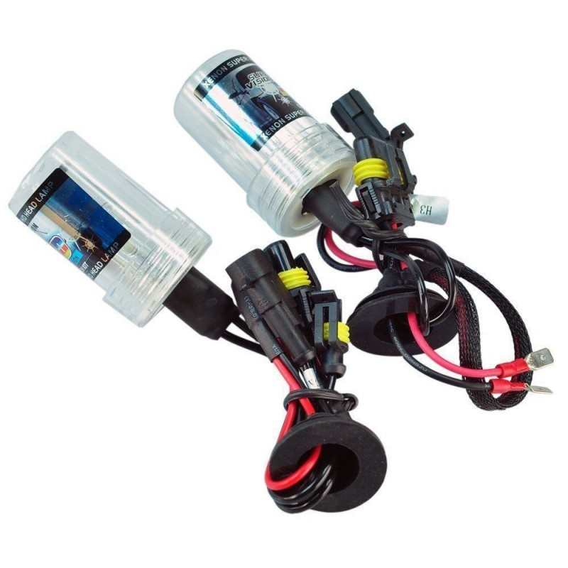 Coppia bulbi fari H7 di ricambio xeno xenon 6000K luce HID lampadina
