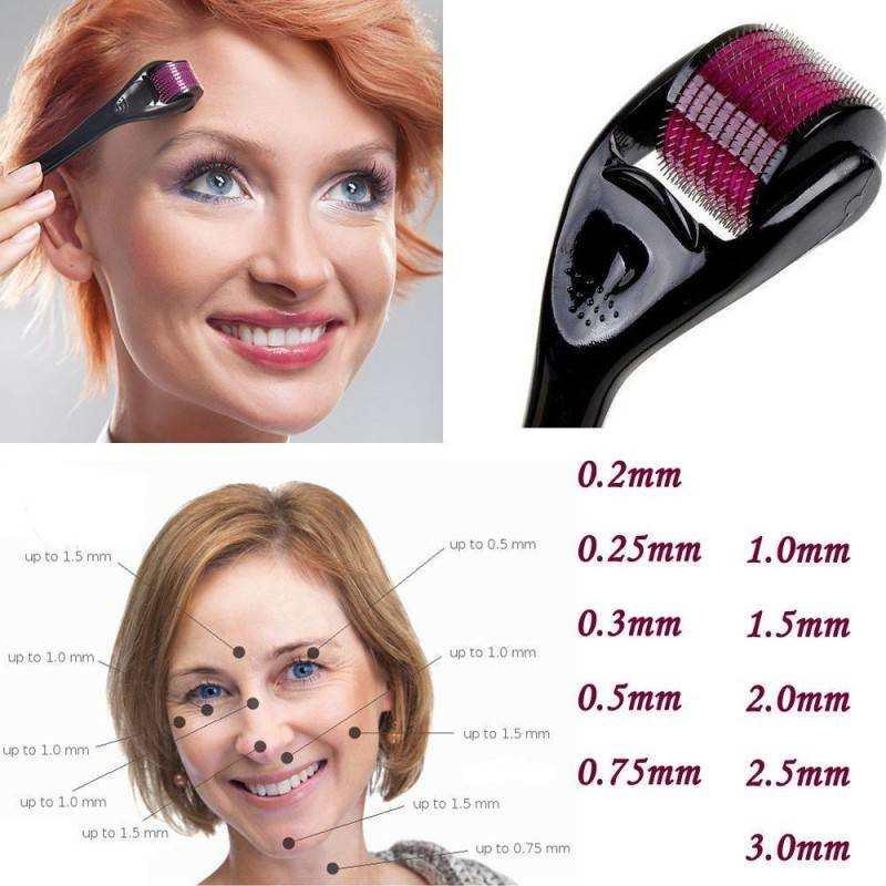 Rotella 540 microaghi 1mm terapia pelle pelle trattamento bellezza rughe antiage