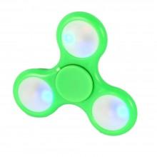5x fidget spinner antistres cuscinetto sfera rilassante antistress tascabile LED