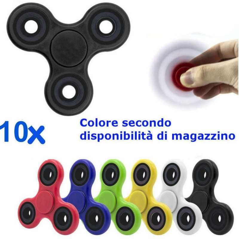 10x fidget spinner antistress cuscinetto sfera rilassante anti stress tascabile