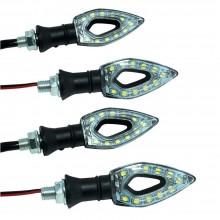4x frecce moto universali LED indicatori direzione luce ambra gialla tuning