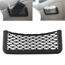 Tasca larga adesiva porta oggetti net elasticizzata plastica auto porta telefono