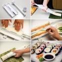 Kit sushi roll maker sushezi roller riso per cucina orientale in casa bazooka