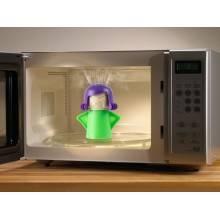 Pulisci microonde donna arrabbiata pulitore forno aceto e acqua vapore