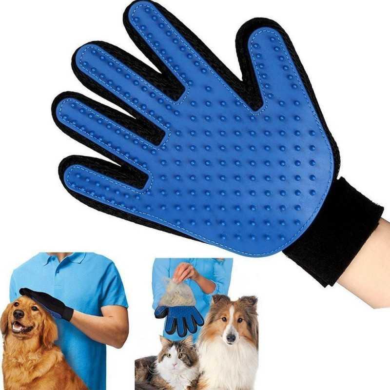 Guanto cardatore per cani gatti mano destra