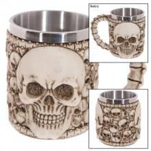 Vichinga scheletro teschio boccale ornamentale tazza bevande guerriero gotica