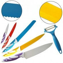 set 5 coltelli da cucina più pelapatate high quality antiaderenti professionali