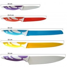 set 5 coltelli da cucina più pelapatate high quality antiaderenti professionali