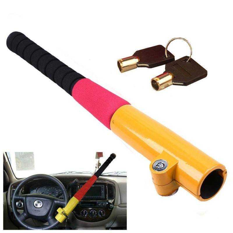Mazza blocca sterzo per volante auto anti furto sicurezza macchina anti theft