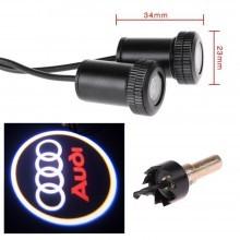 Proiettori LED da portiera per auto proietta logo luce marchio proiettore