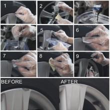 Kit pulizia restauro cerchi in lega auto moto camper lucidante rigenerante DIY