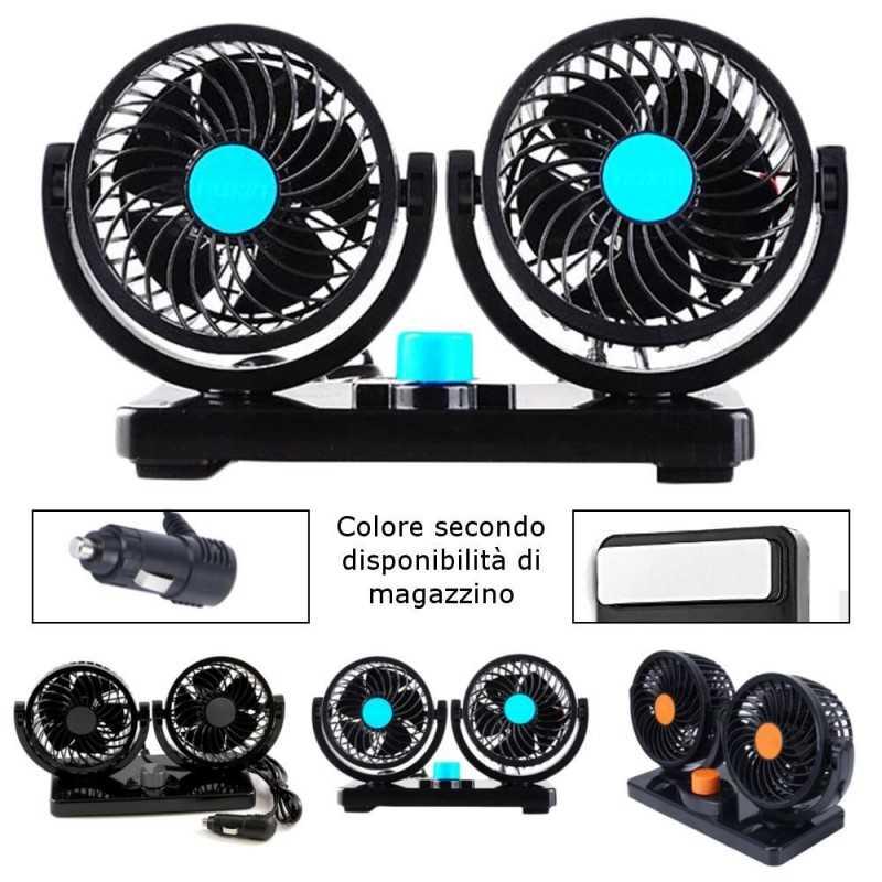 Doppio ventilatore regolabile per auto camion camper furgone 12V 24V