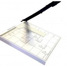 Taglierina tagliacarta a leva professionale fogli A4 A5 ghigliottina magnetica