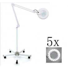Lampada lente d'ingrandimento LED 5x da pavimento orientabile piedistallo 150cm