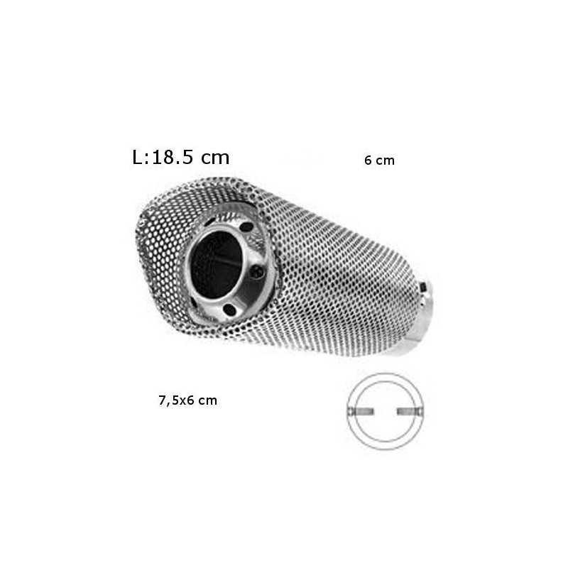 Codino marmitta terminale per auto acciaio inox tubo di scarico decorativa
