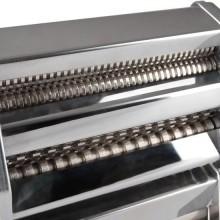 Macchina manuale per pasta in acciaio con 6 spessori di sfoglia e morsetto