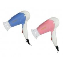 Mini asciugacapelli da viaggio sonar 1200w vacanze valigia due colori portatile