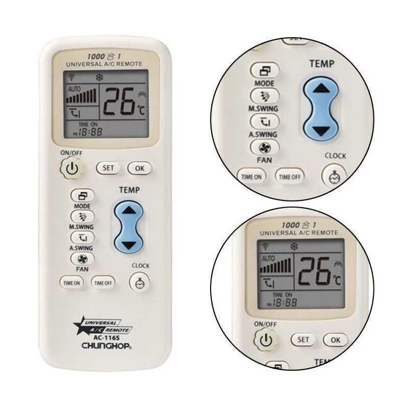 Telecomando per condizionatori universale programmabile aria condizionata AC116S