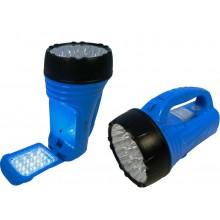 Torcia a led lampada portatile ricaricabile 39 led (23+16) luce portatile bianco freddo con doppia sorgente di illuminazione