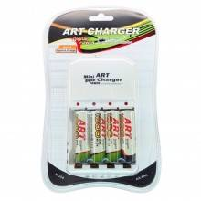 Caricabatterie universale per pile stilo AA e AAA 4 slot