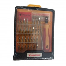 Cacciavite con sistema a cricchetto 30 punte pinzette e contenitore in plastica