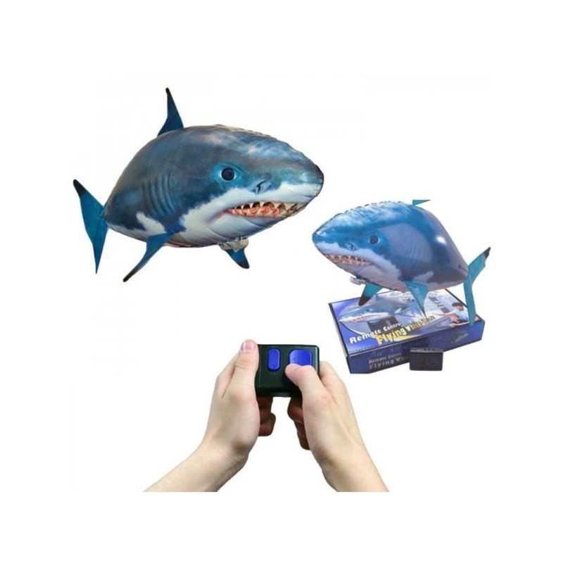 squalo giocattolo volante dirigibile gonfiabile elio elica On squalo gonfiabile radiocomandato