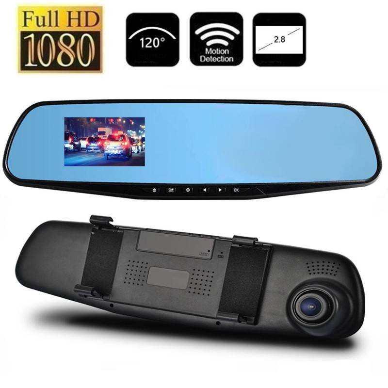 Specchietto retrovisore con telecamera scatola nera registrazione auto schermo