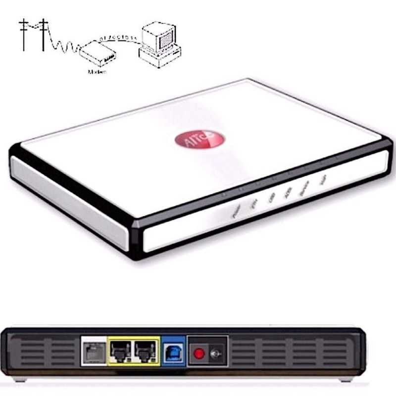 Modem alice Telecom ADSL Gate 2 Plus 20 mega ethernet internet usb completo