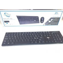 Kit Mouse e Tastiera wireless 2.4GHZ USB marchiato DRIWEI con microricevitore Plug&Play - Batterie e copri tastiera inclusi