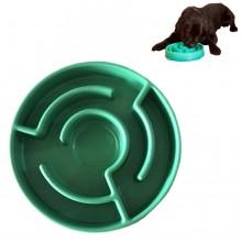 Ciotola labirinto plastica per cane gatto animali domestici mangiatoia lento