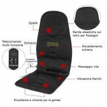 Cuscino da sedia massaggiante sedile auto ufficio casa relax stress riscaldante