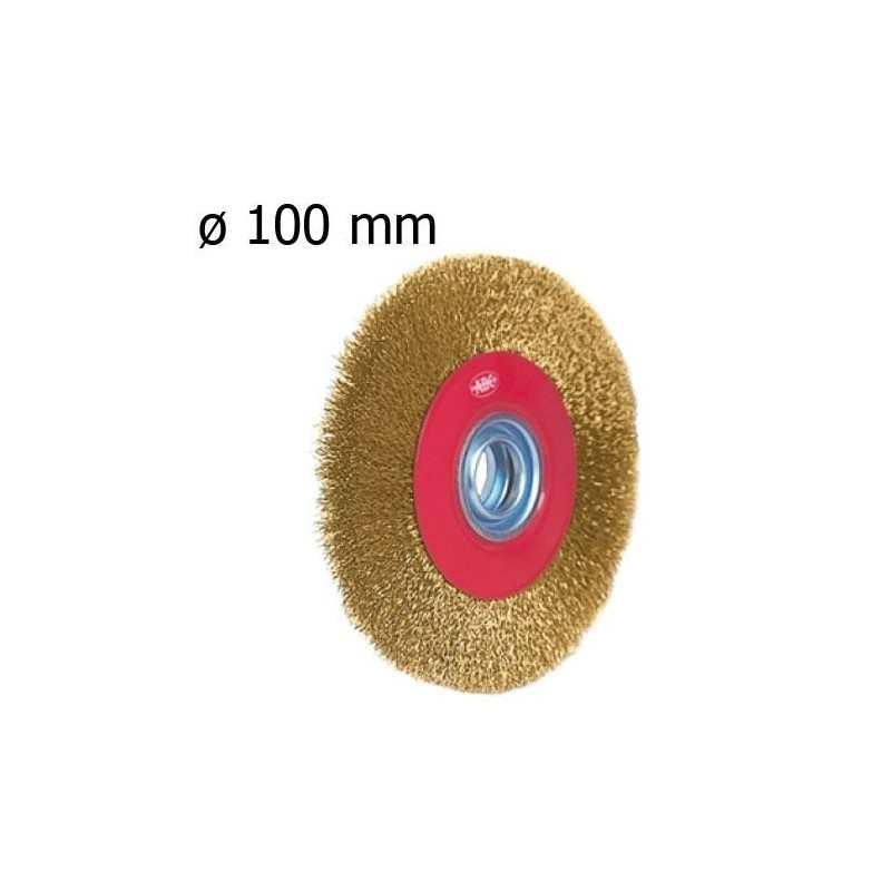 Spazzola circolare rotante ferro acciaio fil di ferro levigatrice 100 mm oro
