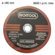 Disco 180 mm lama circolare taglio acciaio smerigliatrice A46S rotante metallo