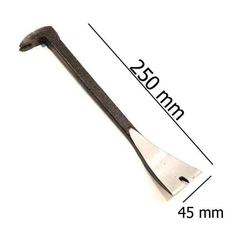 Leverino da carpentiere 250 mm acciaio piede di porco ferro multifunzione
