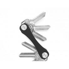 Portachiavi organizzatore 12 chiavi metallo nero pieghevole portatile