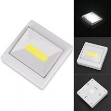 Luce led singolo di cortesia interruttore COB bianca a batterie AAA magnetica
